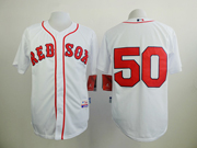 Mens mlb boston red sox #50 betts white (no name) Jersey