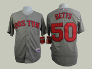Mens Mlb Boston Red Sox #50 Betts Gray Jersey