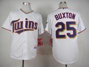 mens mlb minnesota twins #25 buxton white 2015 new Jersey