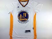 mens nba Golden State Warriors #11 Klay Thompson white (short sleeve) jersey