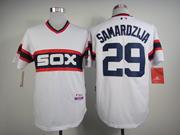 Mens Mlb Chicago White Sox #29 Samardzija White Pullover Jersey