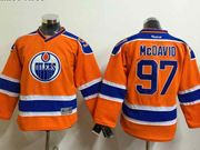 youth reebok nhl edmonton oilers #97 mcdavid orange Jersey