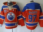 Mens nhl edmonton oilers #97 mcdavid blue hoodie Jersey