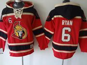 Mens nhl ottawa senators #6 ryan red hoodie Jersey