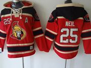 Mens nhl ottawa senators #25 neil red hoodie Jersey