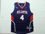 Mens Nba Atlanta Hawks #4 Millsap Blue Throwback Jersey