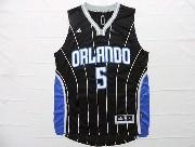 Mens Nba Orlando Magic #5 Oladipo Black Stripe Jersey
