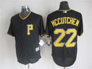 Mens mlb pittsburgh pirates #22 andrew mccutchen black Jersey