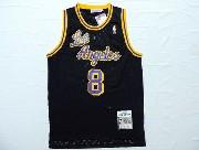 Mens Nba Los Angeles Lakers #8 Bryant Black Soul Swingman Jersey [blue Number] [mesh]