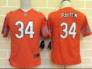 youth nfl Chicago Bears #34 Walter Payton orange game jersey