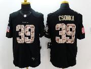 Mens Nfl Miami Dolphins #39 Csonka Black Salute To Service Jersey
