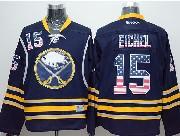 Mens reebok nhl buffalo sabres #15 jack eichel dark blue (usa flag fashion) Jersey