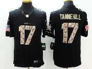 Mens Nfl Miami Dolphins #17 Tannehill Black Salute To Service Jersey