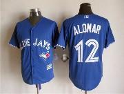 mens mlb Toronto Blue Jays #12 Roberto Alomar blue (2012 majestic) jersey