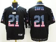 Mens Nfl Indianapolis Colts #21 Davis Black (2014 Usa Flag Fashion) Elite Jersey