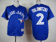 Mens Mlb Toronto Blue Jays #2 Tulowitzki Blue (2012) Jersey