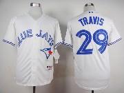 Mens Mlb Toronto Blue Jays #29 Devon Travis White (2012) Jersey