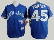 Mens Mlb Toronto Blue Jays #45 Pompey Blue (2012) Jersey