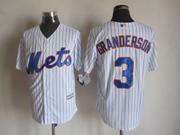 Mens mlb new york mets #3 granderson white (2015 new blue stripe) Jersey