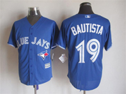 mens mlb Toronto Blue Jays #19 Jose Bautista blue (2012 majestic) jersey