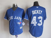 Mens Mlb Toronto Blue Jays #43 Dickey Blue (2012 Majestic) Jersey