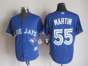 Mens Mlb Toronto Blue Jays #55 Martin Blue (2012 Majestic) Jersey