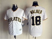 Mens Mlb Pittsburgh Pirates #18 Walker White Cool Base Jersey