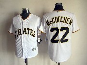 Mens Mlb Pittsburgh Pirates #22 Andrew Mccutchen White Cool Base Jersey