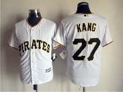 Mens Mlb Pittsburgh Pirates #27 Kang White (2015 Majestic) Jersey