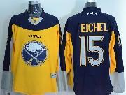 Mens Reebok Nhl Buffalo Sabres #15 Jack Eichel Yellow&blue Jersey