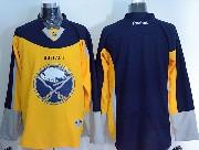 Mens Reebok Nhl Buffalo Sabres (blank) Yellow&blue Jersey