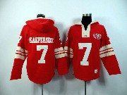 mens nfl San Francisco 49ers #7 Colin Kaepernick red (2015 team) hoodie jersey