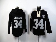 Mens Nfl Oakland Raiders #34 Bo Jackson Black (2015 Team) Hoodie Jersey