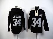 Mens Nfl Oakland Raiders #34 Bo Jackson Black (2015 Team) Hoodie Jersey