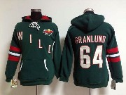 Women Nhl Minnesota Wild Custom Made Green Hoodie Jersey