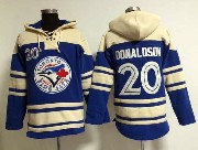 Mens Mlb Toronto Blue Jays #20 Donaldson Blue Hoodie Jersey