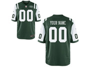Mens Women Youth Nfl New York Jets (custom Made) Green Game Jersey