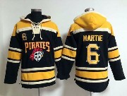 Mens Mlb Pittsburgh Pirates #6 Martie Black Hoodie Jersey