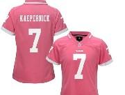 women  nfl San Francisco 49ers #7 Colin Kaepernick pink bubble gum jersey