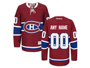 Mens Women Youth Reebok Montreal Canadiens Red Home Premier Current Player Jersey