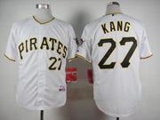 Mens Mlb Pittsburgh Pirates #27 Kang White Jersey