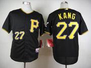 Mens Mlb Pittsburgh Pirates #27 Kang Black Jersey