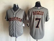 Mens Mlb Houston Astros #7 Biggio Gray 2015 New Jersey