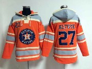 Mens Mlb Houston Astros #27 Altuve Orange Hoodie Jersey