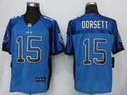 Mens New   Indianapolis Colts #15 Dorsett Drift Fashion Blue Elite Jersey