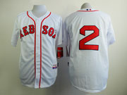 Mens Mlb Boston Red Sox #2 Bogaerts White (no Name) Jersey