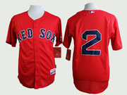 Mens Mlb Boston Red Sox #2 Bogaerts Red (no Name) Jersey