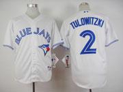 Mens Mlb Toronto Blue Jays #2 Tulowitzki White (2012) Jersey
