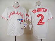 Mens Mlb Toronto Blue Jays #2 Tulowitzki White (canada Day) Jersey