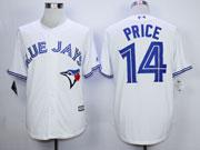 Mens Mlb Toronto Blue Jays #14 Price White (2012 Majestic) Jersey